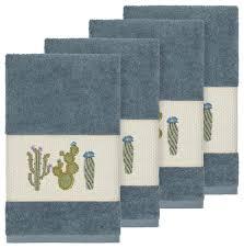 mila 4 piece embellished hand towel set