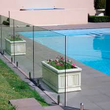 glass railing clear glass with
