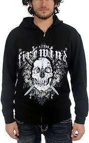 Firewind - Mens Skull and Swords Hoodie in Black, Medium, Black:  Amazon.co.uk: Clothing