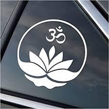 Amazon Com World Design Namaste Car Decal Sticker White Automotive