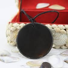 heka naturals shungite pendant necklace