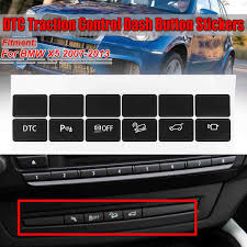 A Set Car Dash Central Control Panel Button Repair Sticker Dtc Traction Control Switch For Bmw X5 2007 2013 Car Stickers Car Stickers Aliexpress