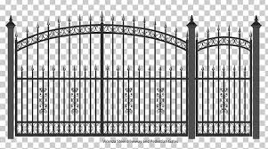 Gate Wrought Iron Fence Door Png Clipart Arch Black And White Cast Iron Door Down The