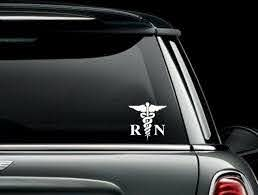 Rn Glitter And Rhinestone Caduceus Window Car Sticker Nurse For Sale Online Ebay
