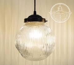 pendant light clear holophane globe