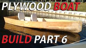 homemade plywood boat part 6 float