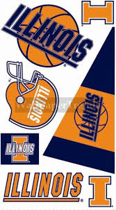 Ui University Of Illinois Fighting Illini Wall Decals Removable Wall Stickers Free Shipping Available