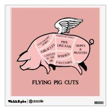Flying Pig Wall Decals Stickers Zazzle