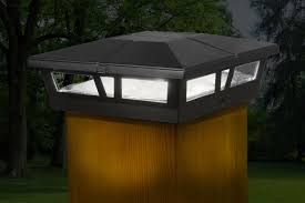 6x6 Black Aluminum Cambridge Solar Post Cap Classy Caps Mfg Inc