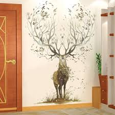 Elk Deer Stickers Animal Decals Home Wallpaper Nursery Removable Vinyl Wall Sticker Kids Wall Decor Decorations Decal Boy Room Thefuns On Artfire