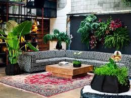 home interior with indoor garden decor