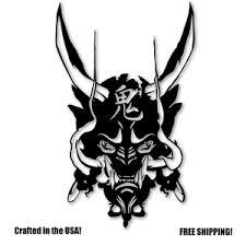 Oni Samurai Demon Mask Vinyl Decal Sticker Ebay
