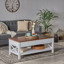 faux marble lift top coffee table