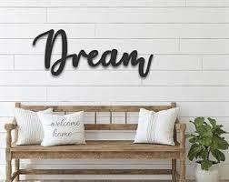 Dream Wall Decor Etsy