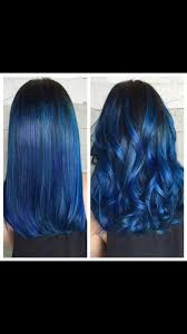 how to achieve the dark blue hair you