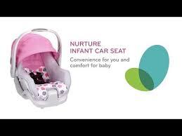 nurture infant car seat evenflo