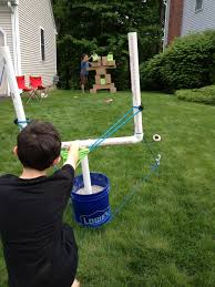 The main attraction! Angry Birds slingshot/catapult made with PVC ...