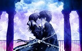 free wallpaper anime love kiss