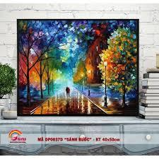 Tranh tự tô màu DIY sơn dầu số hóa về tình yêu - Mã DP0037D Sánh bước bên  nhau