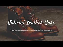 how to clean and condition leather with