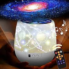 Amazon Com Zhangz0 Remote Star Projector Night Light For Kids Room 6 Films Infant Sleep Sound Machine 360 Rotating Led Starry Sky Nightlight Music Player 18 Songs Home Kitchen