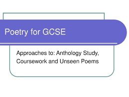 ppt poetry for gcse powerpoint