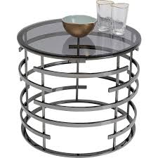 black contemporary side table saturn