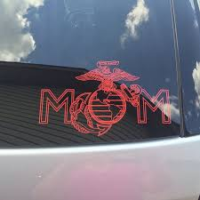 Usmc Ega Mom Miliary Decal Custom Us Marine Vinyl Car Truck Window Sticker Usmc Mom Usmc Truck Window Stickers