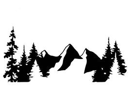 Mountains And Trees Vinyl Decal Mountain Decal Mountain Etsy Nature Decal Mountain Decal Vinyl Decals