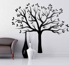 Silhouette Autumn Tree Wall Sticker Tenstickers