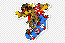 Sticker Skateboarding Decal Thrasher Powell Peralta Funny Car Stickers Sport Fictional Character Png Pngegg