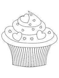 Cupcake Valentijn Kleurplaat Kleurplaten Valentijnen
