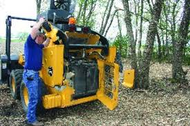 skid steer for safe land clearing
