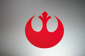 Rebel Alliance Vinyl Decal Sticker Star Wars Red White Silver 1 2 1 2 3 4 Ebay