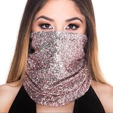 iHeartRaves Accessories | Rose Gold Minisequin Face Mask | Poshmark