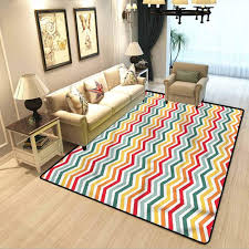 Amazon Com Chevron Kids Room Bedroom Carpet Summer Themed Geometric Extra Soft And Non Slip Area Rug W6 X L7 Feet Kitchen Dining