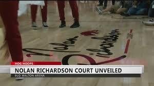 Nolan Richardson Court Unveiled at Bud Walton Arena - YouTube