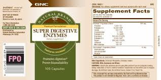 GNC Natural Brand Super Digestive Enzymes, 100 Capsules, Supports ...