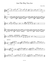Just The Way You Are - Bruno Mars Sheet music