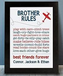 Amazon Com Brother Rules Framed Print Brother Wall Art Brother Sign Shared Boys Room Brother Playroom Boy Playroom Brother Gift Brother Decor Airplane Print Handmade