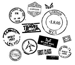 Vinyl Wall Decal Travel Series Postmarks Passport Stamp Wall Sticker Usa
