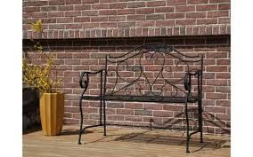alium cast aluminium garden bench black