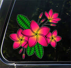 The Decal Store Com By Yadda Yadda Design Co Clr Car Tropical Plumeria Flower Cluster Vinyl Decal For Cars Tr