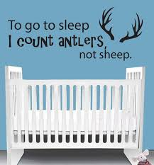 To Go To Sleep I Count Antlers Not Sheep Deer Wall Decal Boy Etsy