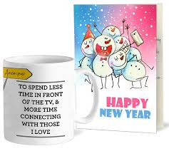 buy tied ribbons new year gift greeting card for employees