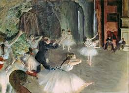Degas The Rehearsal Of The Ballet On Stage 19th Wall Decal