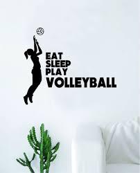 Eat Sleep Play Volleyball Wall Decal Sticker Vinyl Art Bedroom Room Ho Boop Decals