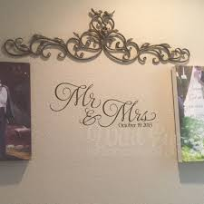 Mr And Mrs Vinyl Wall Decal Wedding Decal Anniversary Master Bedroom