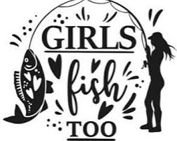 Girl Fishing Decal Etsy