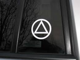 Aa Circle Triangle Vinyl Decal Sticker Window Graphics